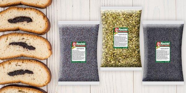 Cenné dary prírody: semienka maku, sezamu i dyne