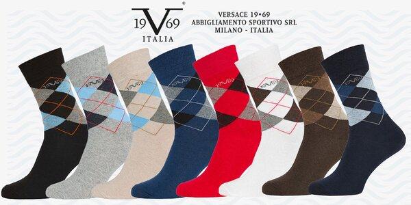 5 párov business ponožiek Versace 19.69