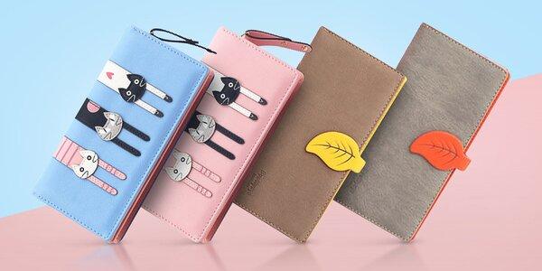 Veselé dámske peňaženky v pastelových farbách