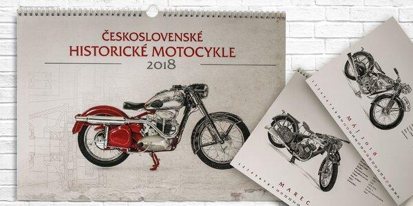 Kalendár - historické motocykle v perokresbe!