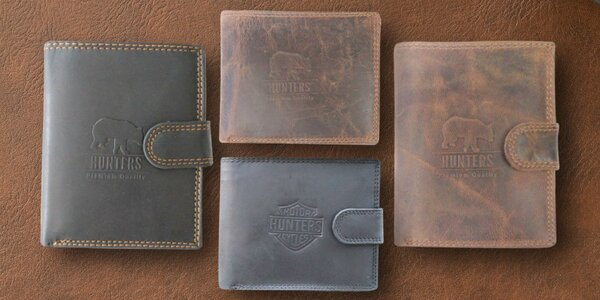 Pánské kožené peňaženky Hunters