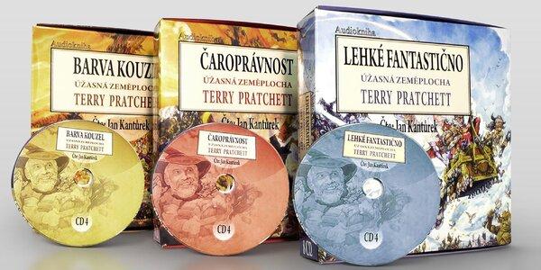 Séria prvých troch audiokníh Terryho Pratchetta na CD