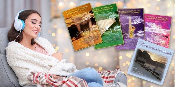 Príjemná relaxačná hudba na 8 CD a ako bonus 1 CD vianočné koledy