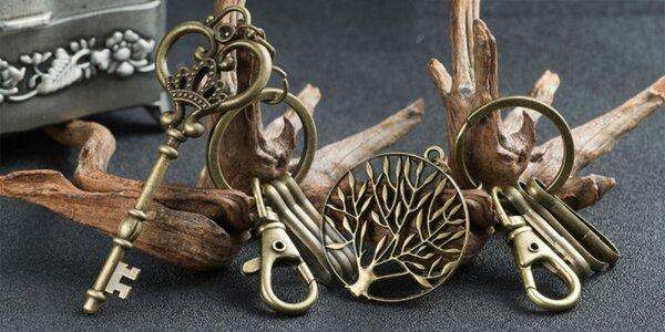 Retro kľúčenky s darčekovým vrecúškom