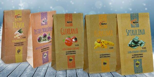 Vianočný balík: Pestrec mariánsky, zázvor, kurkuma, spirulina či guarana