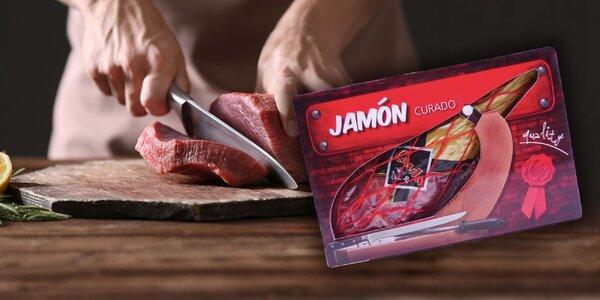Španielske sušené stehno JAMÓN CURADO+krabica