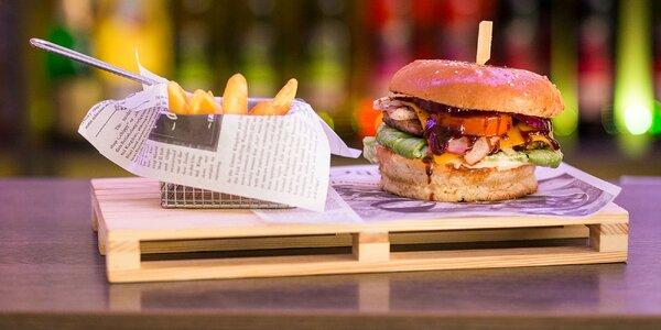 Texas burger s hranolčekmi - chutná klasika!