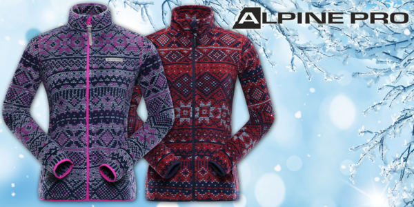 Dámske vzorované mikiny Alpine Pro