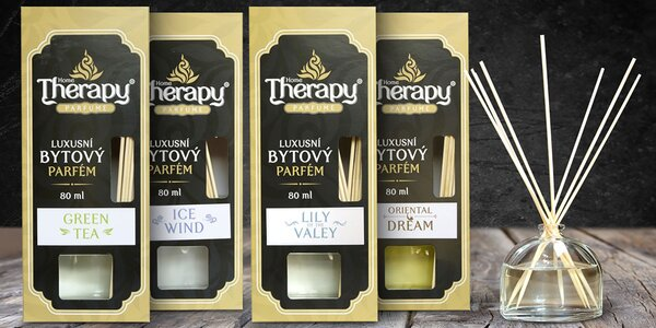 Parfémové bytové difuzéry Home Therapy - 8 druhov na výber