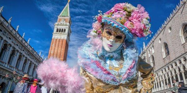 Legendárny karneval v Benátkach s prehliadkou ostrovov Muráno a Buráno