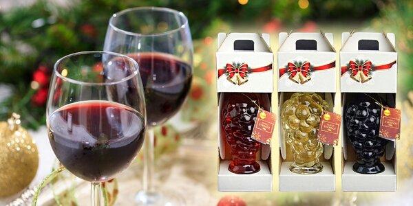 Darčekové vína v ozdobnej fľaši