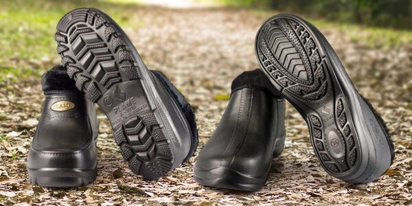 Pánske a dámske zateplené topánky FLAMEshoes v čiernej farbe