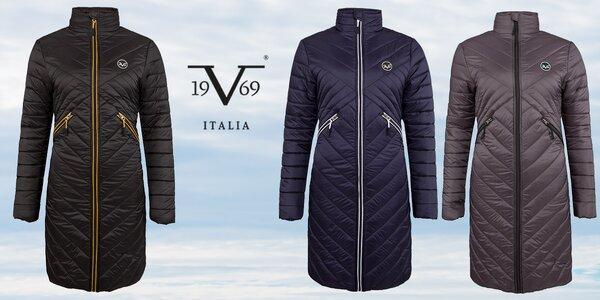 Dámske prešívané dlhé kabáty značky 19V69 Italia.