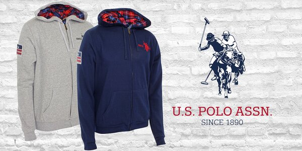 Pánska štýlová mikina s kapucňou U. S. Polo Assn