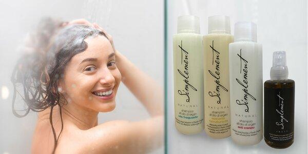 100% BIO Argánový olej na vlasy a luxusný šampón Simplement