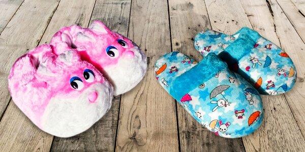 Roztomilé detské papuče vo viacero farbách