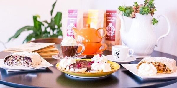 Topená belgická čokoláda, domáca štrúdľa alebo banány v čokoláde