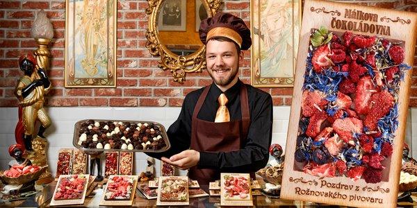 Valentínske ručne vyrábané Rothschildove čokolády