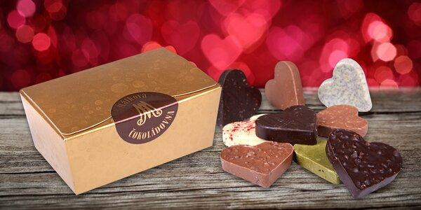 Chuť lásky: ručne vyrábané čokoládové srdiečka