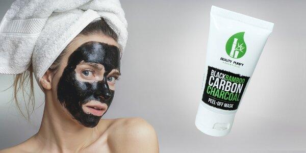 Čierna pleťová maska BLACK BAMBOO CARBON CHARCOAL