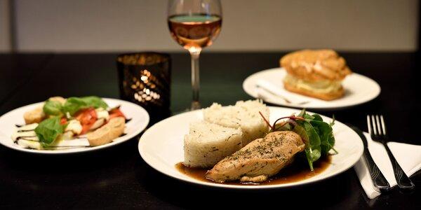 Valentínske 3-chodové menu pre 2 osoby