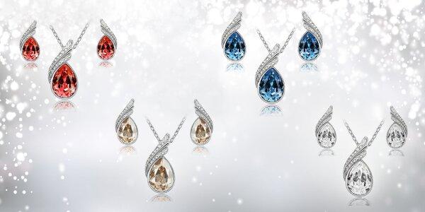 Zirkónový dámsky set náhrdelnika a náušníc