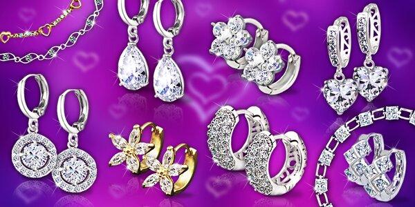 Žiarivé náušnice a náramky La Diamantina