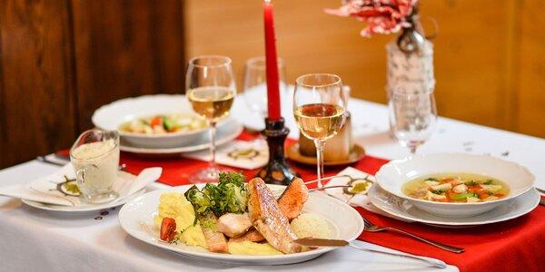 Romantické degustačné menu pre 2 osoby v Aranykárász csárda