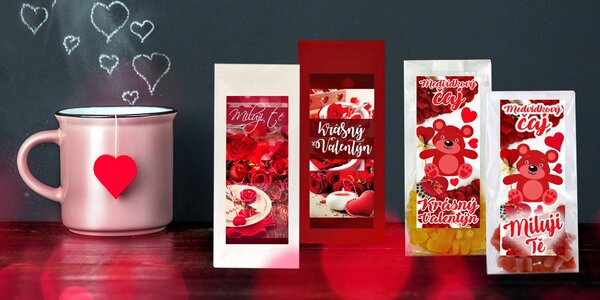 Valentínske čaje medvedíkové a ovocné sypané!