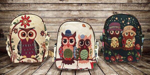 Veselé batohy s motívom sovičiek