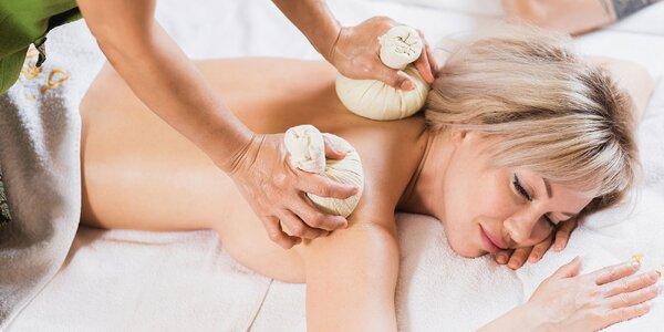 Špeciálna masáž herbal Kizhi v Golden Royal