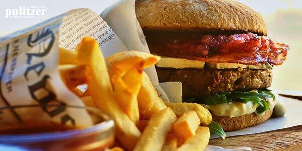 GRAND MC Pulitzer burger s hranolčekmi + polievka