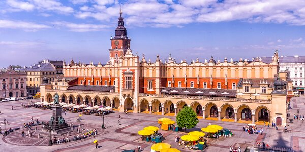 Pobyt s raňajkami v centre Krakova
