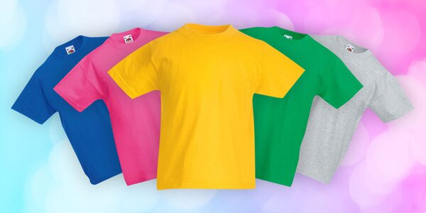 Bavlnené detská tričká Fruit of the Loom: 9 farieb