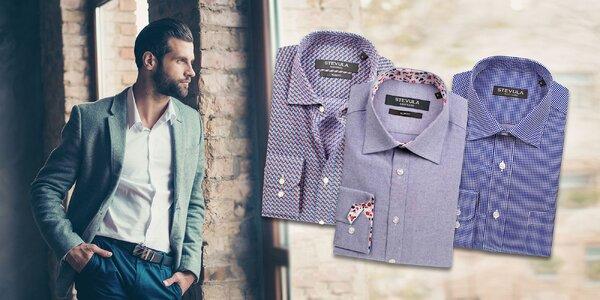 Elegantné pánske košele slovenskej značky zo 100 % bavlny