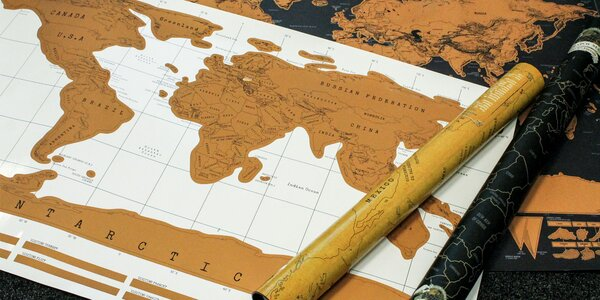 Stieracia cestovateľská mapa DELUXE EDITION
