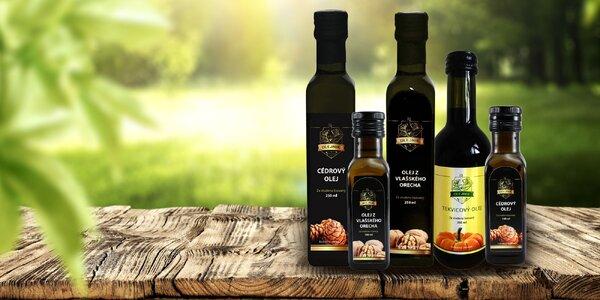 Olej z cédru, tekvice či vlašských orechov