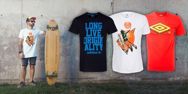 Pánske tričká Adidas, Reebok a Umbro