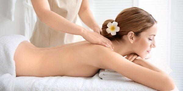 Klasická masáž chrbta a šije alebo celého tela