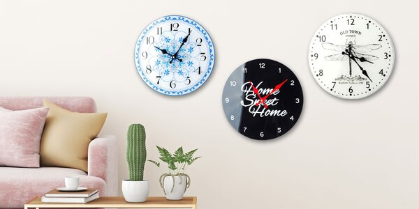 Sklenené nástenné hodiny do obývačky i kuchyne