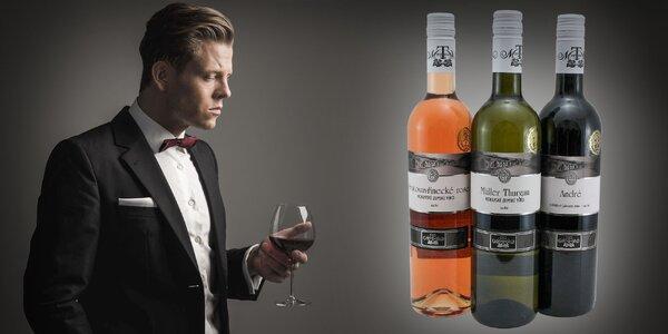 Kartón 3 druhov vín na príjemné jarné večery vo dvojici