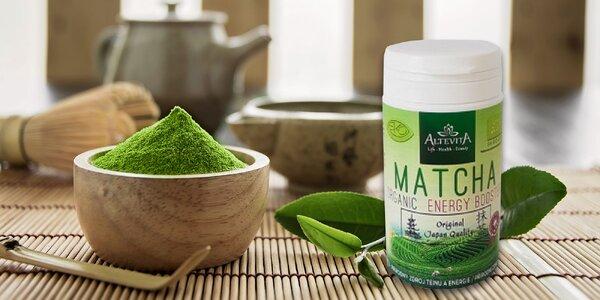 100% BIO japonský zelený čaj MATCHA v kapsulách