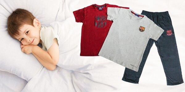 FC Barcelona chlapčenské pyžamo