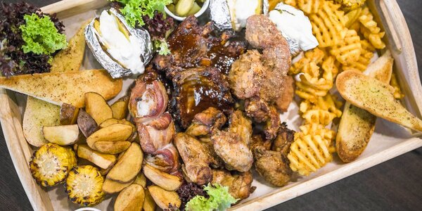 Mäsová misa Geronimo grill special + 4 x Krušovice