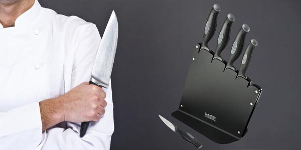 Sada nožov v stojane francúzskej značky Sabatier