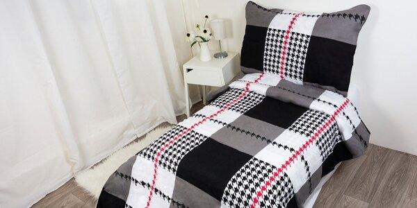 Výber piatich flanelových obliečok zo stopercentnej bavlny