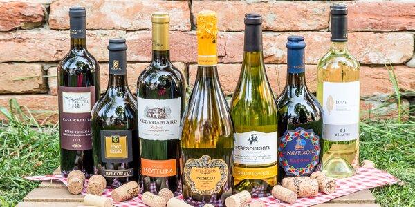 Degustácia 3 až 7 druhov vín a tanierik antipasti