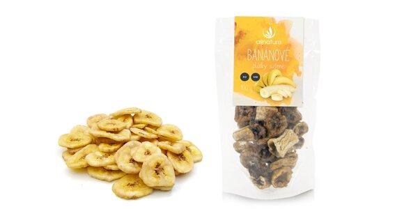 BIO a RAW. Sušené banánové plátky Allnature