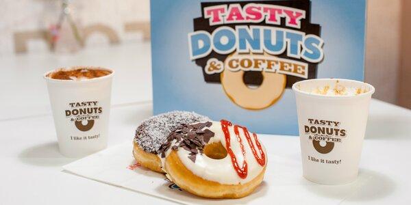 Donuty a káva v Tasty Donuts v OC Central: rôzne druhy