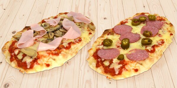 Zdravšie varianty pizzy: 1 alebo 2 oválne pinsy